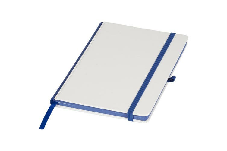 Journal Books Notebook With Coloured Spine (White/Blue) (One Size)