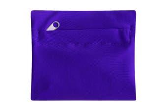 Bullet Squat Wrist Band With Zipper (Purple) (11 x 9 x 1 cm)