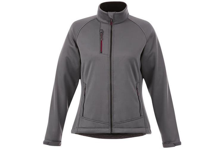 Slazenger Chuck Womens/Ladies Softshell Jacket (Grey) (XL)