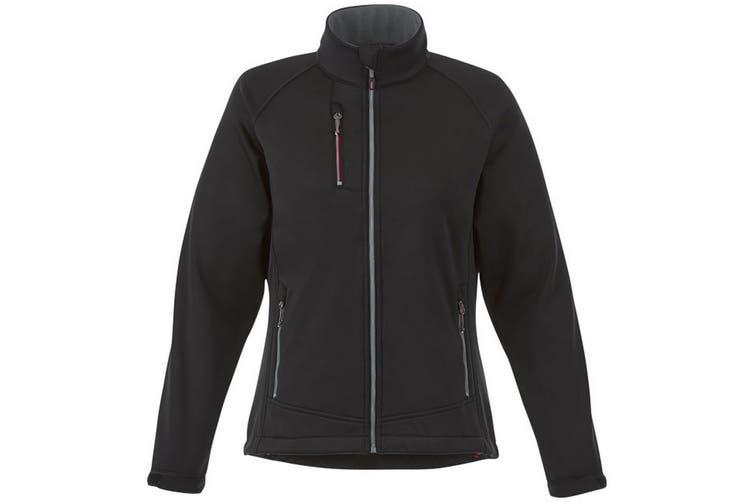 Slazenger Chuck Womens/Ladies Softshell Jacket (Black) (XL)