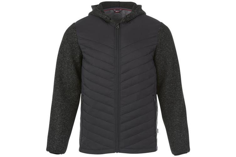 Slazenger Mens Hutch Insulated Hybrid Jacket (Heather Smoke) (XS)