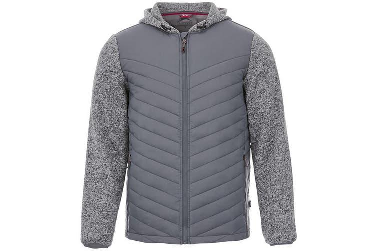 Slazenger Mens Hutch Insulated Hybrid Jacket (Grey) (XXL)