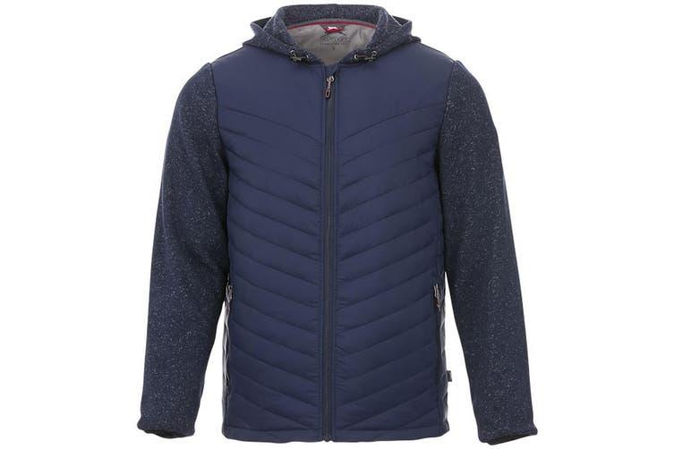 Slazenger Mens Hutch Insulated Hybrid Jacket (Navy) (XXL)