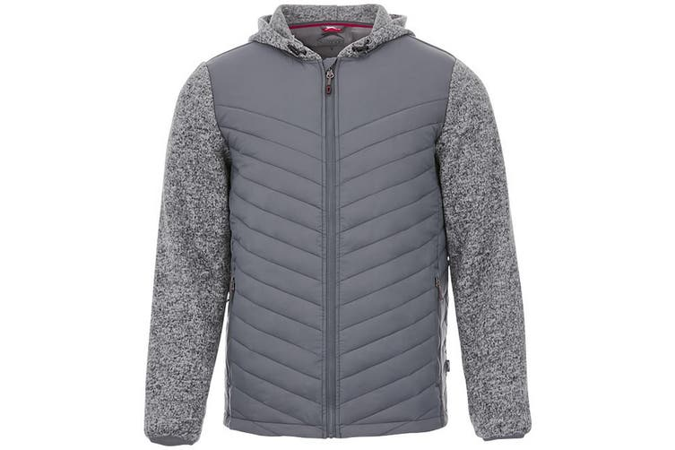Slazenger Mens Hutch Insulated Hybrid Jacket (Grey) (XS)