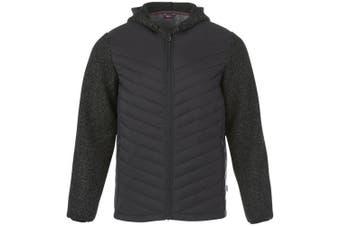 Slazenger Mens Hutch Insulated Hybrid Jacket (Heather Smoke) (L)
