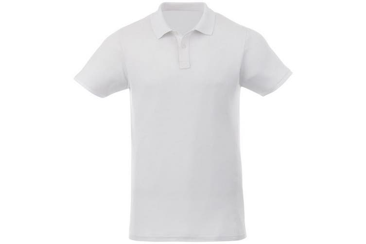 Elevate Liberty Mens Short Sleeve Polo Shirt (White) (S)
