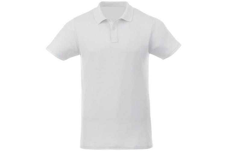 Elevate Liberty Mens Short Sleeve Polo Shirt (White) (XS)