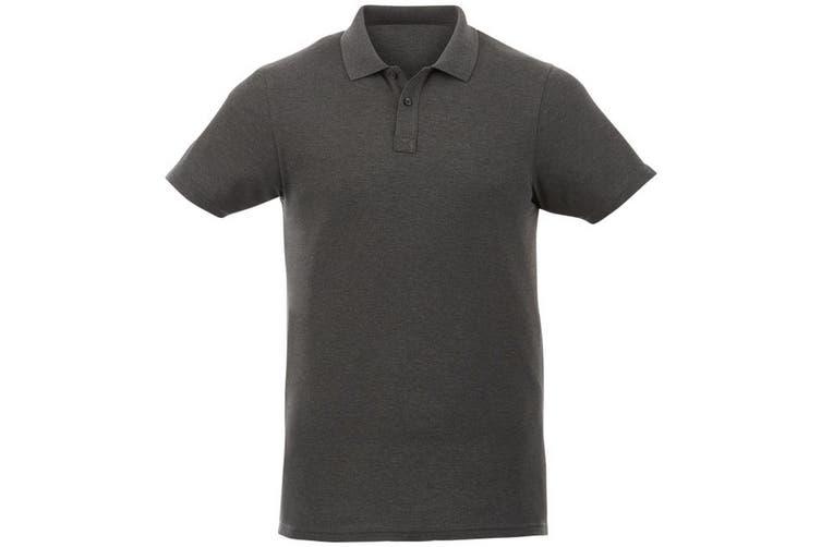 Elevate Liberty Mens Short Sleeve Polo Shirt (Heather Charcoal) (XXL)