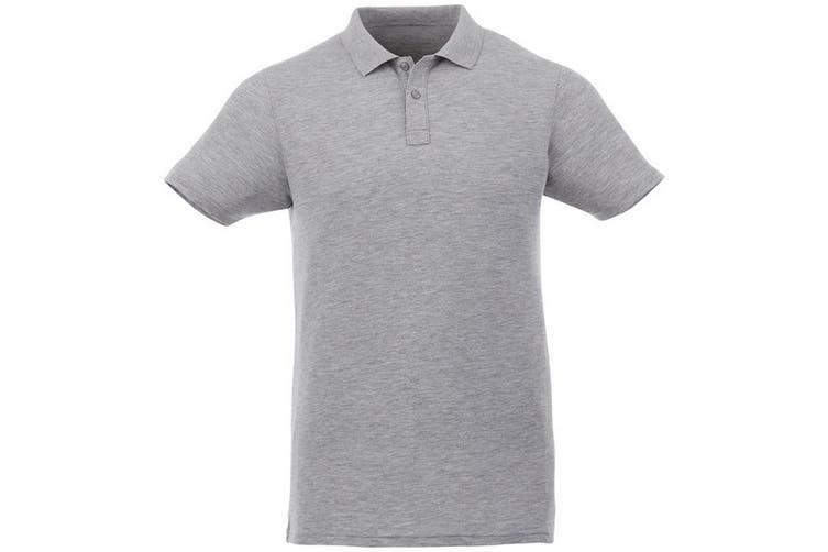 Elevate Liberty Mens Short Sleeve Polo Shirt (Heather Grey) (L)