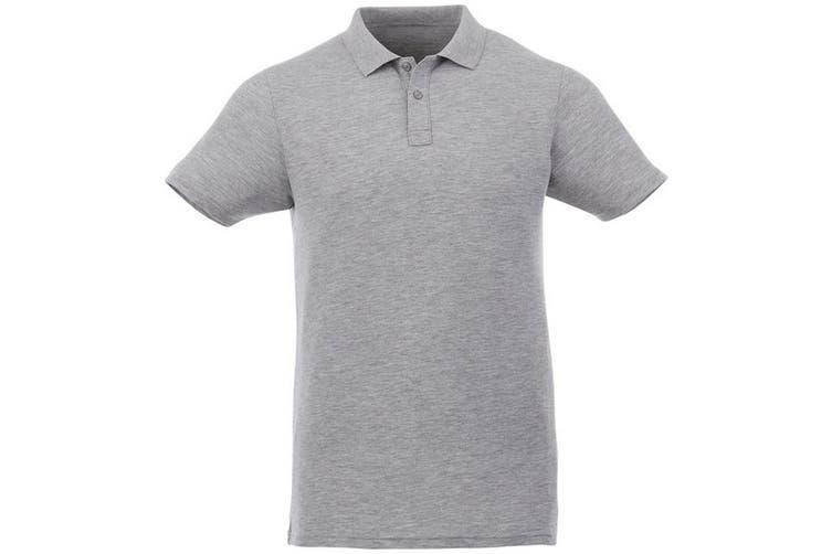 Elevate Liberty Mens Short Sleeve Polo Shirt (Heather Grey) (S)