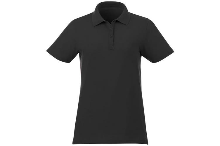 Elevate Liberty Womens/Ladies Private Label Short Sleeve Polo Shirt (Black) (XXL)