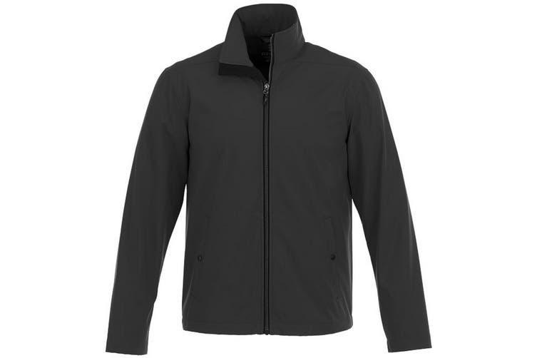 Elevate Karmine Mens Softshell Jacket (Black) (M)
