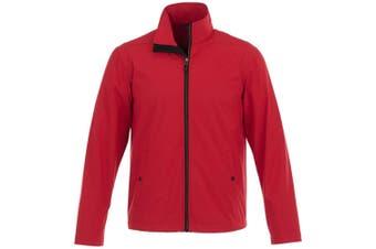Elevate Karmine Mens Softshell Jacket (Red) (S)
