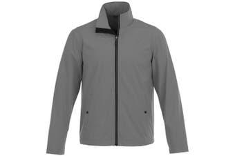 Elevate Karmine Mens Softshell Jacket (Steel Grey) (S)