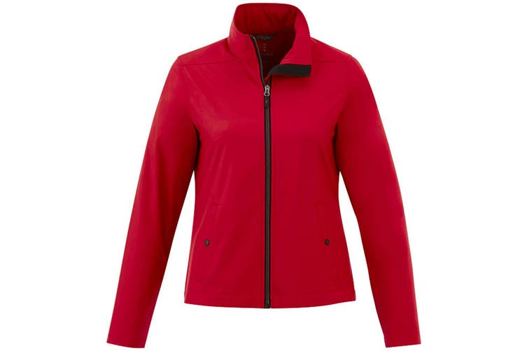 Elevate Karmine Womens/Ladies Softshell Jacket (Red) (L)