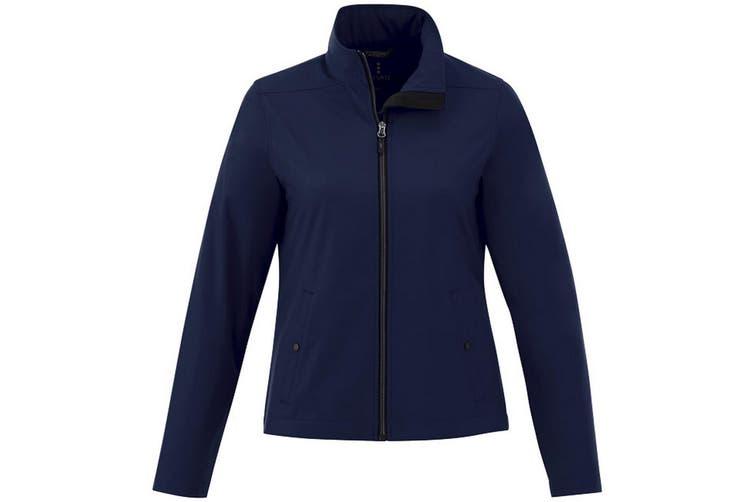 Elevate Karmine Womens/Ladies Softshell Jacket (Navy) (XL)