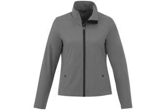 Elevate Karmine Womens/Ladies Softshell Jacket (Steel Grey) (XL)