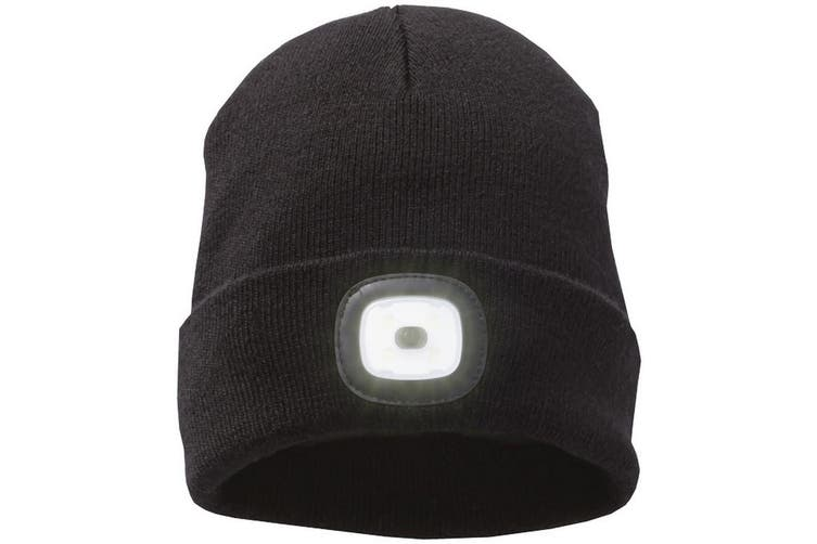 Elevate Unisex Adults Mighty LED Knit Beanie (Black) (One Size)