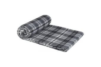 Bullet Scot Checkered Plaid Blanket (Solid Black) (One Size)