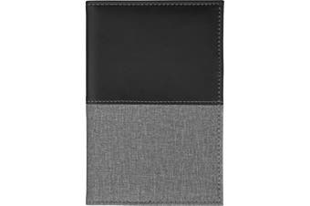 Bullet Heathered Passport Cover (Solid Black) (One Size)