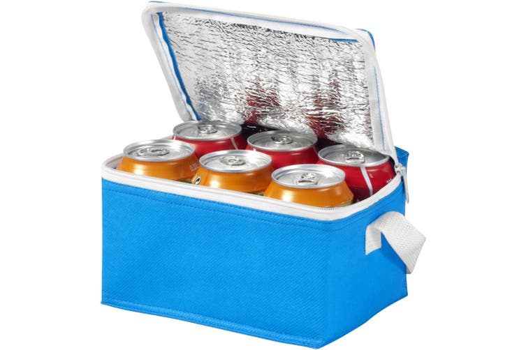 Bullet Spectrum 6 Can Cooler Bag (Pack of 2) (Process Blue) (20 x 15 x 12 cm)