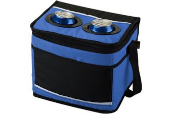 California Innovations 12-Can Drink Pocket Cooler (Pack of 2) (Royal Blue/Solid Black) (25.4 x 19 x 21.6cm)
