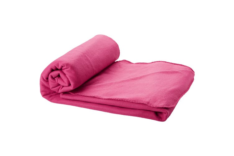 Bullet Huggy Blanket And Pouch (Pack of 2) (Magenta) (150 x 120 cm)