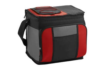 California Innovations 24-Can Easy-Access Cooler (Pack of 2) (Red/Solid Black) (29.2 x 22.8 x 27.9cm)