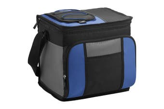 California Innovations 24-Can Easy-Access Cooler (Pack of 2) (Royal Blue/Solid Black) (29.2 x 22.8 x 27.9cm)