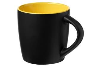Bullet Riviera Ceramic Mug (Solid Black/Lime) (8.4 x 8.8 cm)