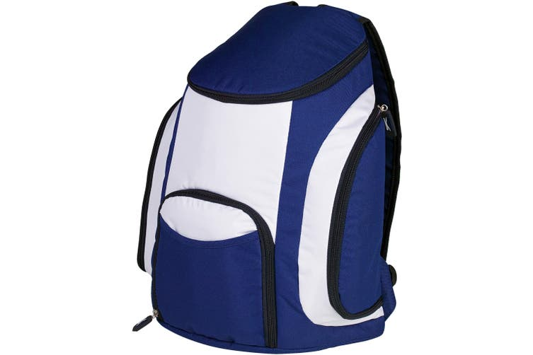 Slazenger Brisbane Cooler Backpack (Pack of 2) (Royal Blue/Grey) (34 x 17.5 x 44 cm)