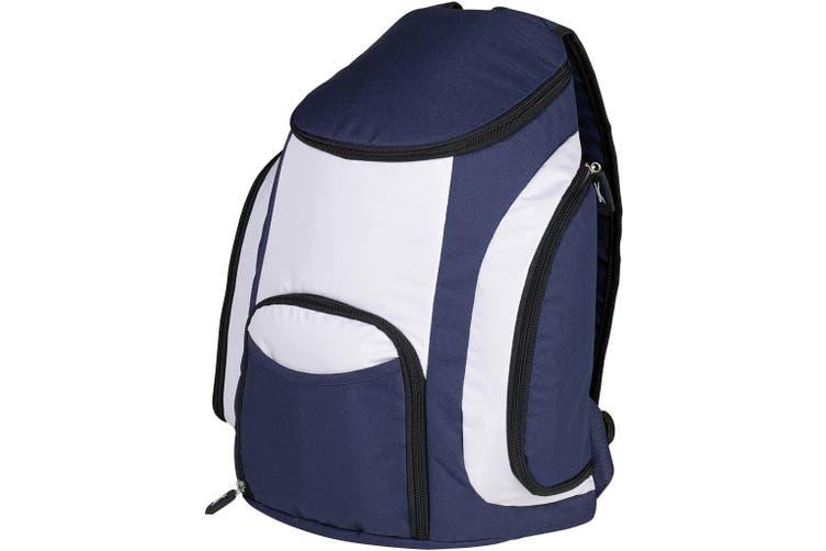 Slazenger Brisbane Cooler Backpack (Pack of 2) (Navy/Grey) (44 x 18 x 34 cm)
