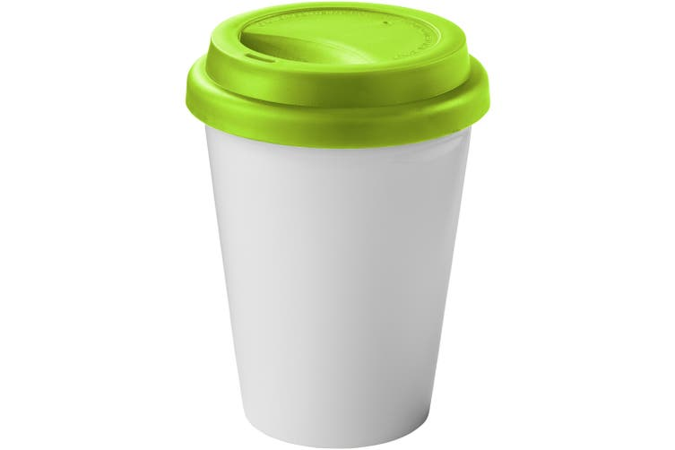 Bullet Zamzam Insulated Tumbler (Pack of 2) (White/Lime Green) (12.7 x 9.5 cm)