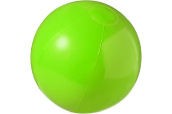 Bullet Bahamas Solid Colour Beach Ball (Pack Of 2) (Green) (25 cm)