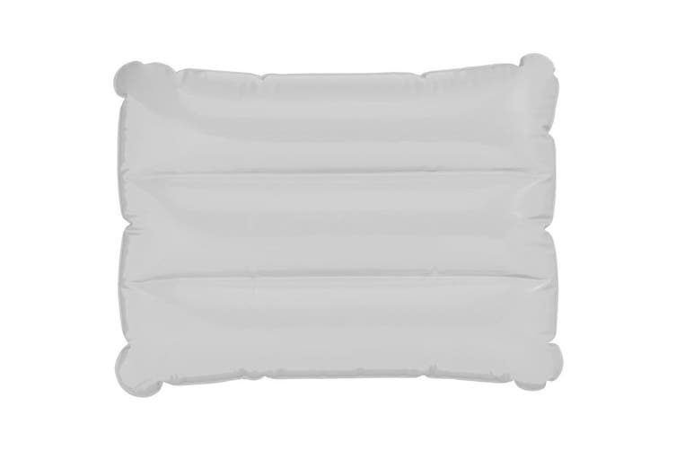 Bullet Wave Inflatable Pillow (White) (32 x 25 cm)