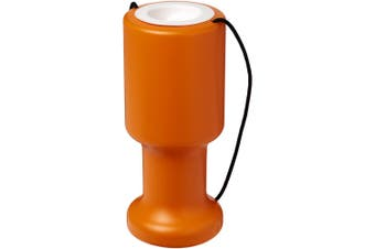 Asra Hand Held Plastic Charity Container (Orange) (One Size)