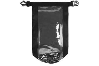 Bullet Tourist Waterproof Bag With Phone Pouch (Solid Black) (One Size)