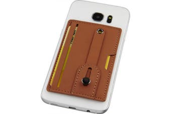 Avenue Prime Phone Wallet With Strap (Brown) (One Size)