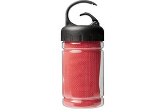 Bullet Remy Cooling Towel in PET Container (Red) (One Size)