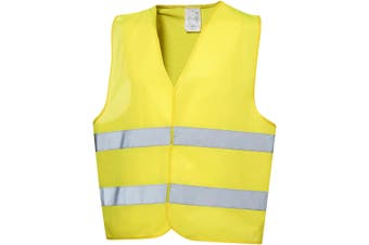 Bullet Professional Safety Vest In Pouch (Neon Yellow) (57 x 70 cm)
