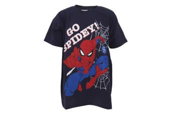 Spiderman Childrens Boys Go Spidey T-Shirt (Blue) - UTPG153
