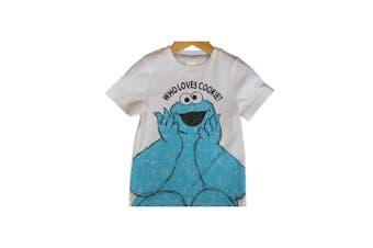 Sesame Street Childrens/Kids T-Shirt (Pack Of 2) (White/Grey) - UTPG181
