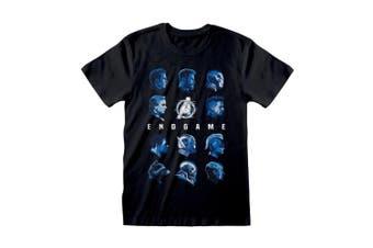 Avengers Mens Endgame Tonal Heads T-Shirt (Black) - UTPG193