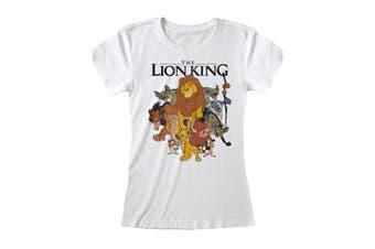 The Lion King Womens/Ladies Vintage Group T-Shirt (White) - UTPG202
