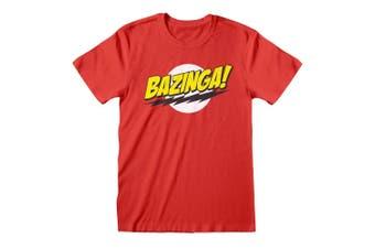 Big Bang Theory Unisex Adults Bazinga T-Shirt (Red) (S)