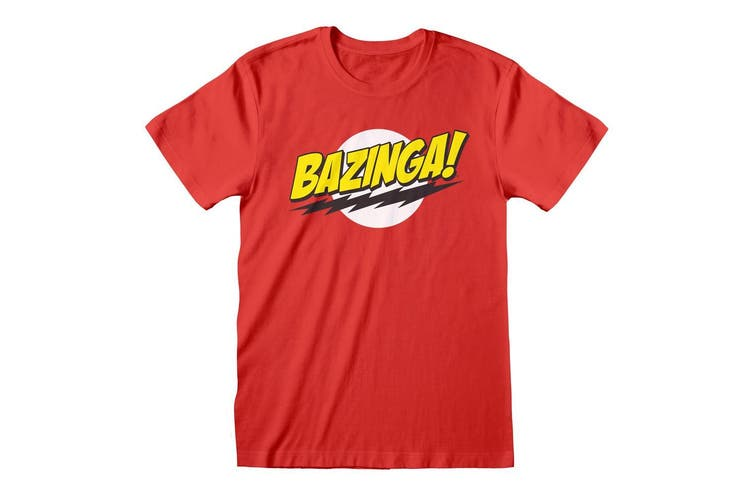 Big Bang Theory Unisex Adults Bazinga T-Shirt (Red) (XXL)
