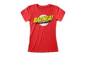 Big Bang Theory Womens/Ladies Bazinga T-Shirt (Red) - UTPG206