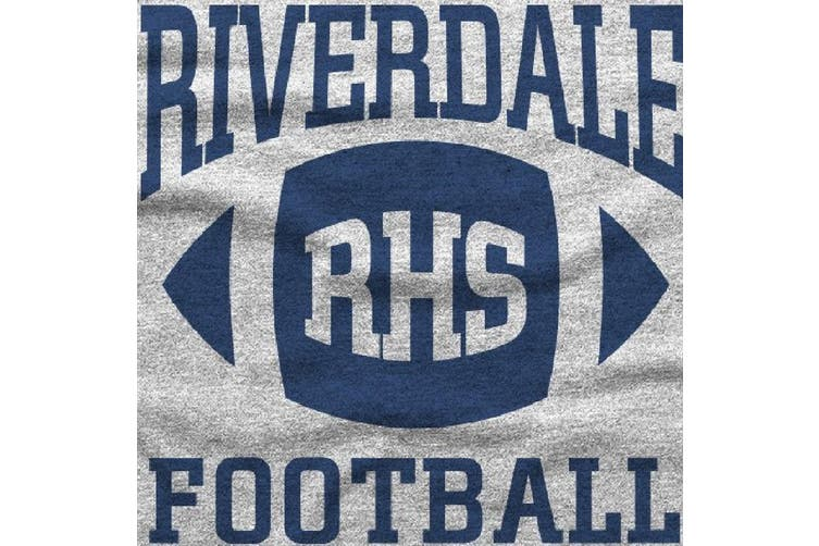 Riverdale Unisex Adults Bulldogs RHS Football Hoodie (Grey) (XL)