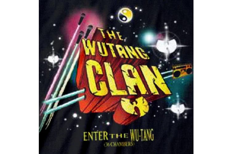 Wu-Tang Clan Unisex Adults Gods Of Rap Sweatshirt (Black) (XL)
