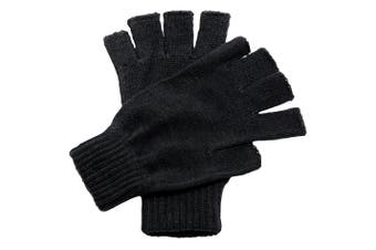 Regatta Unisex Fingerless Mitts / Gloves (Black) (One Size)
